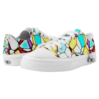 Stained Glass Mosaic Design Sneaker Printed Shoes
