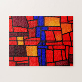Stained Glass Mosaic Jigsaw Puzzle