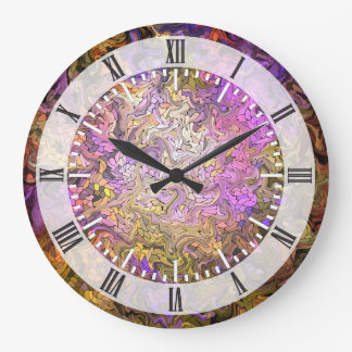 Stained Glass Mosaic Large Clock