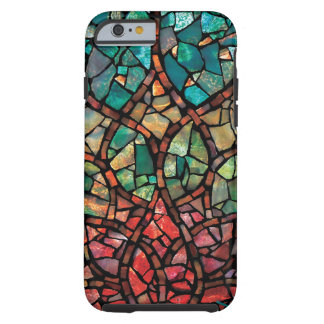 "Stained Glass Mosaic  ""Lotus Rising"" iPhone 6 Case"