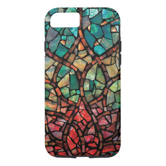 """Stained Glass Mosaic """"Lotus Rising"""" iPhone 7 Case"""