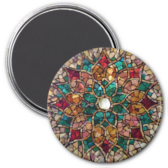 "Stained Glass Mosaic Magnet ""Autumn Star"""