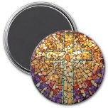 "Stained Glass Mosaic Magnet ""Cross"""