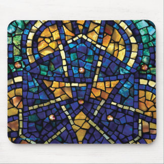 "Stained Glass Mosaic Mousepad ""Kaleidoscope"""