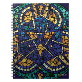 "Stained Glass Mosaic Notebook ""Kaleidoscope"""