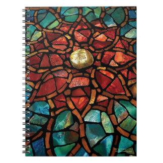 "Stained Glass Mosaic Notebook ""Lotus"""
