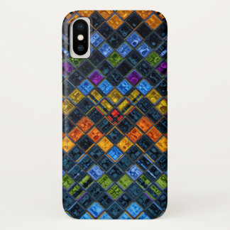 Stained Glass Mosaic Pattern iPhone X Case