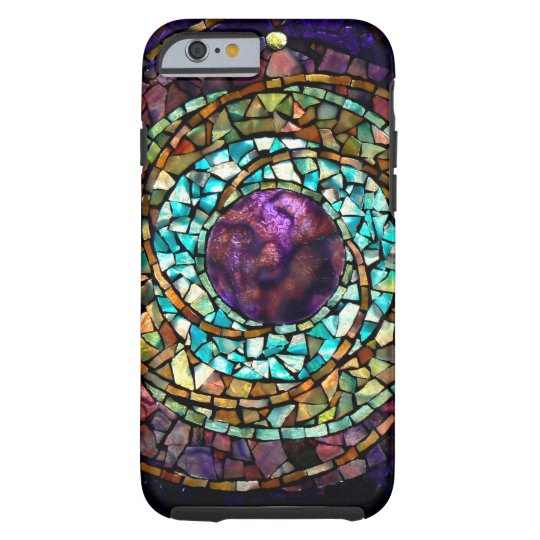"""Stained Glass Mosaic """"Planet"""" iPhone 6 Case"""