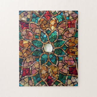 "Stained Glass Mosaic Puzzle ""Autumn Star"""