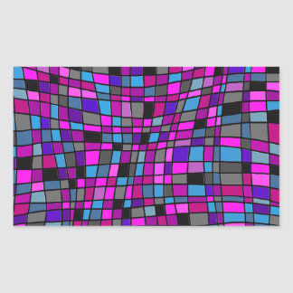 Stained Glass Mosaic Tiles in Purple Hues Stickers