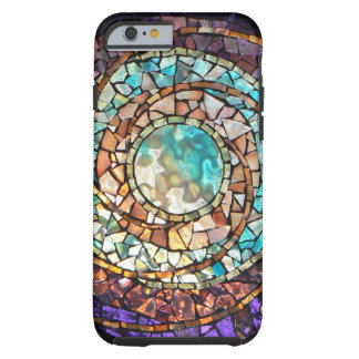 "Stained Glass Mosaic ""Water Planet"" iPhone 6 Case"