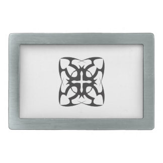 STAINED GLASS OPEN RECTANGULAR BELT BUCKLE