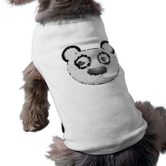 Stained glass panda dog tshirt