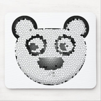 Stained glass panda mouse pad