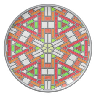 Stained Glass Party Plate