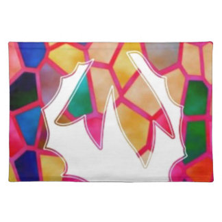 STAINED Glass Pattern Wreath Design Placemats