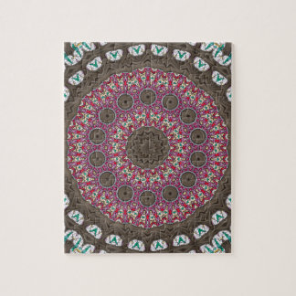 Stained Glass Patterns In A Mandala Form Jigsaw Puzzle