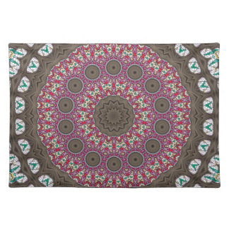 Stained Glass Patterns In A Mandala Form Placemat