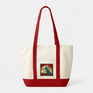Stained Glass Peacock Impulse Tote Bag