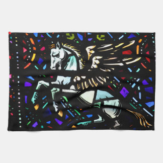 Stained Glass Pegasus Kitchen Towels