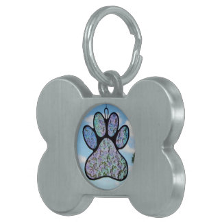 "Stained glass ""Pet Tag"" Pet Tags"