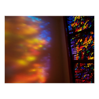Stained Glass Photograph The Healing Window Art Poster