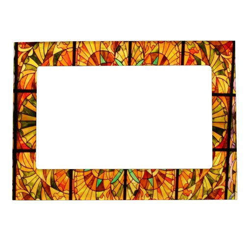 stained glass picture frame magnetic photo frames zazzle