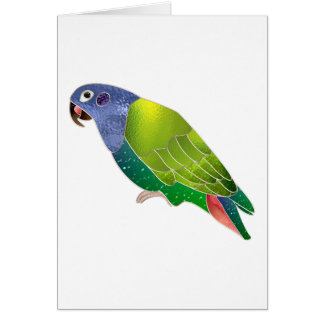 Stained Glass Pionus Parrot Greeting Card