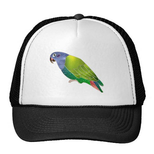 Stained Glass Pionus Parrot Mesh Hats