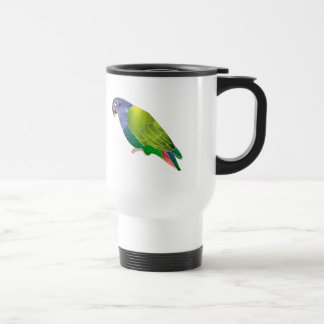 Stained Glass Pionus Parrot Stainless Steel Travel Mug