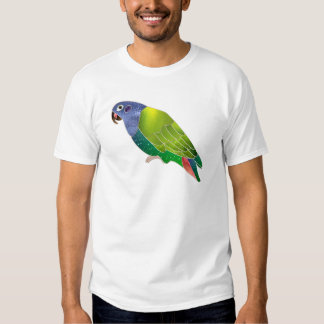 Stained Glass Pionus Parrot T-shirts