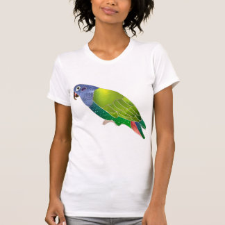 Stained Glass Pionus Parrot T Shirts
