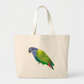 Stained Glass Pionus Parrot Tote Bags