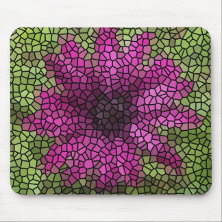 Stained Glass Purple Daisy Mouse Pad