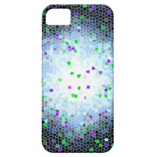 Stained Glass Purple Green Mosaic iPhone 5 Case