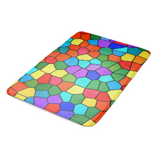 Stained Glass Rainbow 2183 Bath Mat