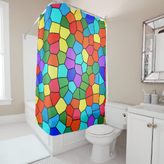 Stained Glass Rainbow 2183 Shower Curtain