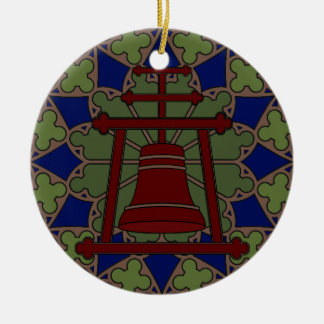 Stained Glass Raincross Tri Design Christmas Ornament
