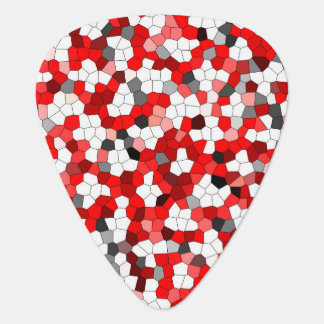 Stained Glass Red Black Pattern Guitar Pick