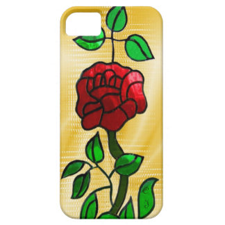 Stained glass Rose iPhone 5 Cases