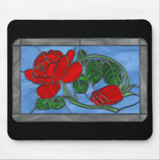 Stained Glass Rose Mousepad