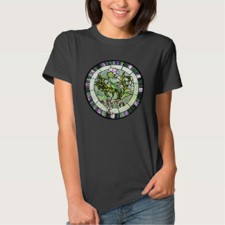 Stained glass scottish thistle tee shirts