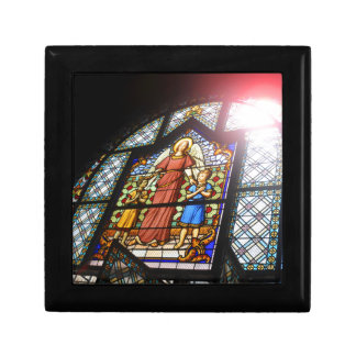 Stained glass small square gift box
