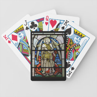 Stained Glass St Michael Helston Cornwall England Poker Deck