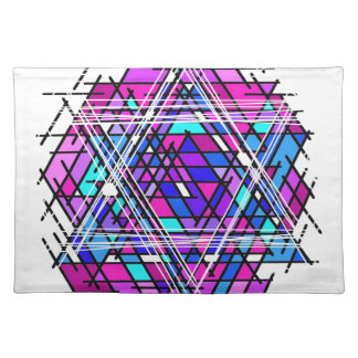 Stained Glass Star of David. Placemats