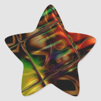 Stained Glass Star Sticker