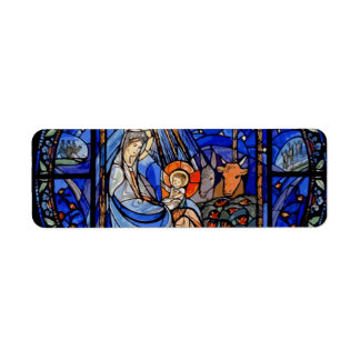 Stained Glass Style Nativity