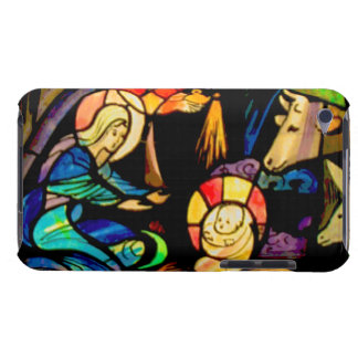 Stained Glass Style Nativity iPod Case-Mate Case