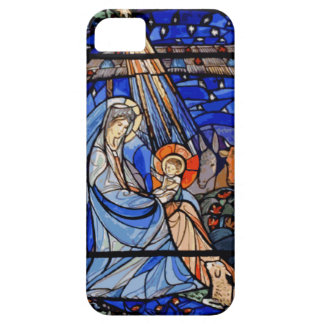 Stained Glass Style Nativity iPhone 5 Case