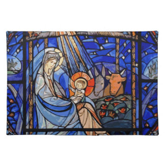 Stained Glass Style Nativity Placemats